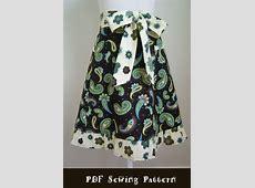 Apron PDF Pattern Women's Half Apron Sewing Pattern and