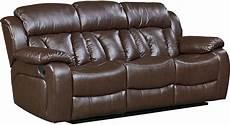 shore chocolate brown reclining sofa 4003391