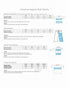 Connected Apparel Size Chart American Apparel Size Charts Free Download