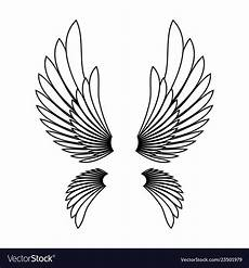 Angel Wings Template Angel Wings Template Logo Design Element Vector Image