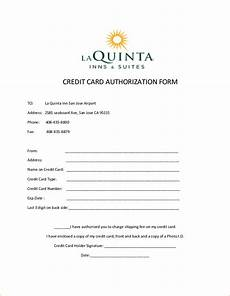 Pre Authorization Credit Card 10 Credit Card Authorization Form Template Free Download