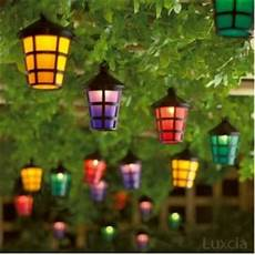 Coloured Outdoor Lantern Lights Set Of 40 Mains Operated String Coloured Garden Indoor