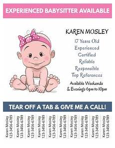 Babysitter Available Ads Customize 370 Babysitting Flyer Templates Postermywall