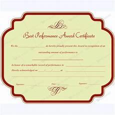 Top Performer Certificate Template Best Performance Award Certificate 10 Award Certificates
