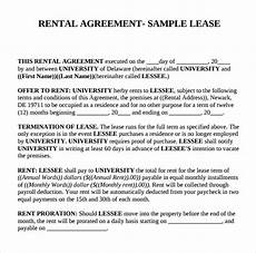 Rent Contracts Samples Free 8 Sample Basic Rental Agreement Templates In Pdf