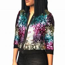 sparkly coats 2017 autumn winter sequin jacket womens sparkly bomber