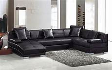 Black Sectional Sofa 3d Image by 3334 Ultra Modern Black Leather Sectional Sofa