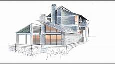Architecture Design Drawing Techniques Architectural Rendering In Sketchbook Pro From Start To