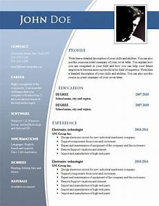 Cv Template Word Download Cv Templates Free Download Word Document Shatterlion Info