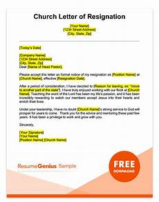 Resignation Letter Church Position Career Specific Resignation Letters Teacher Nurse Amp More