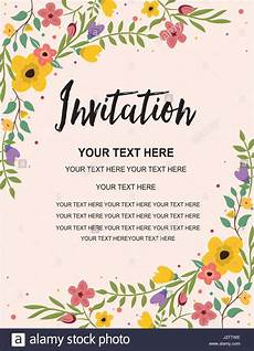 Invitation Cards For Party Anniversary Party Invitation Card Template Colorful