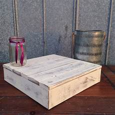 rustic wedding cake stand distressed white square