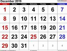 Calendar Page Image December 2019 Calendar Templates For Word Excel And Pdf
