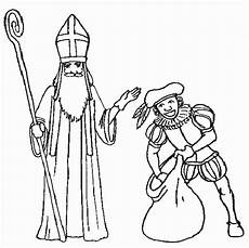 Ausmalbild Bischof Nikolaus Sankt Nikolaus Malvorlagen