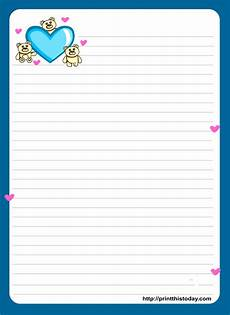 Word Stationery Templates Love Letter Pad Stationery Free Printable Stationery