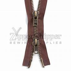 zipper for coats 10 antique brass two way heavy separating jacket zippers