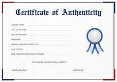 Make A Certificate Of Authenticity Simple Certificate Of Authenticity Design Template In Psd