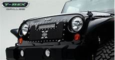 Jeep Grill With Lights Jeep Wrangler Torch Series Led Light Grille 1 12 Quot Led