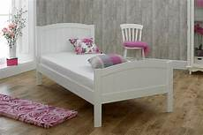albany white wooden bed frame 3ft single solid wood