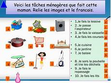 Les Taches Menageres French Les T 226 Ches M 233 Nag 232 Res Chores Ppt For Beginners Tpt