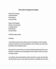 Cover Letter Of Intent 9 Intent Letter Templates Free Sample Example Format