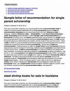 Parent Letter Of Recommendation Fillable Online Sample Letter Of Recommendation For Single