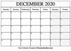 Free December 2020 Calendar Printable December 2020 Calendar Templates By Helena