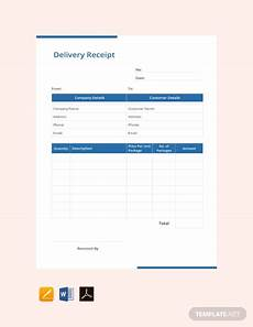 delivery receipt template free free delivery receipt template pdf word excel
