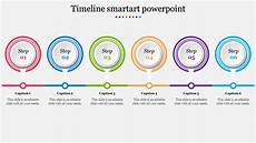 Powerpoint Timeline Smartart A Six Noded Timeline Smartart Powerpoint Slideegg