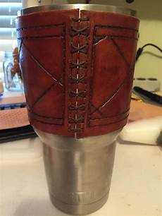 yeti rambler sleeve yeti rambler 30oz leather sleeve tooled leather