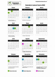 Calendario 2020 Xls Calendario Laboral Huelva 2020