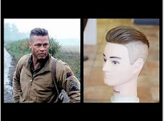 Brad Pitt Fury   Men's Haircut Tutorial   TheSalonGuy