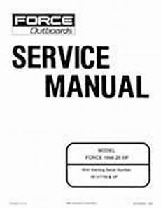 1996 Mercury Force 25 Hp Service Manual 90 830894 895 8 95