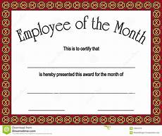 Employee Of The Month Award Employee Of The Month Award With Stock Vector Image