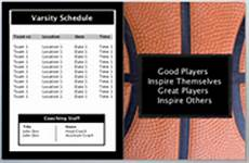 Basketball Tournament Program Template Basketball Book Design Templates Sports Program Printing
