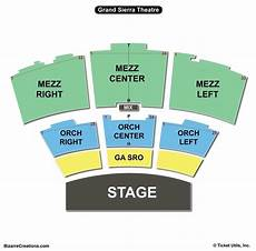 Gsr Seating Chart Grand Sierra Theatre Seating Chart Seating Charts Amp Tickets