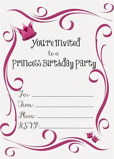 Party Invitation Card Template Free Birthday Party Invitations For Girl Free Printable