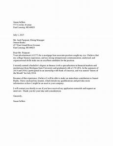Example Of Cover Leter Loan Associate Resume Cover Letter Example
