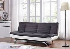 duo contrast fabric 3 seater sofabed with curved chrome