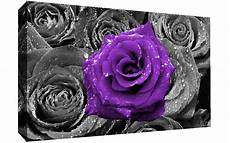 floral purple on bed of roses abstract canvas wall