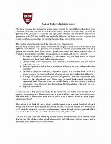 Example Of A College Admission Essay Sample College Admissions Essays We Have Prepared This