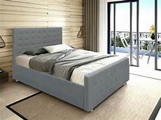 panana ottoman gas lift up storage grey fabric bed linen
