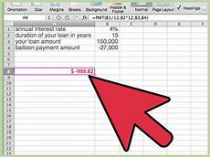 Loan Calculator With Balloon How To Calculate A Balloon Payment In Excel With Pictures