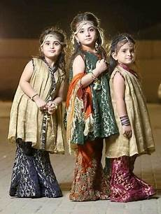 Baby Farooq Design Kids Sharara With Paplam Frocks Tilla Threads Amp Tasal