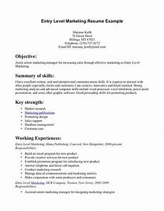 Entry Level Sales Resume Sample Entry Level Marketing Resume Task List Templates