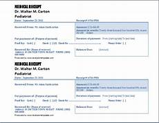Doctors Invoice Template 4 Free Doctor Receipt Templates Word Excel Pdf Formats