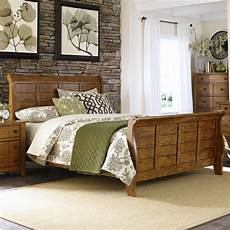 s cabin sleigh bed with paneling by liberty