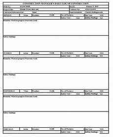 Daily Construction Log Free 34 Daily Log Samples Amp Templates In Pdf Ms Word