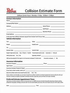 As Is Car Form Free 39 Estimate Forms In Pdf Ms Word