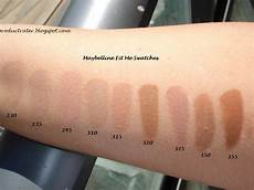 Maybelline Better Skin Foundation Colour Chart Productrater Maybelline Fit Me Foundation Swatches